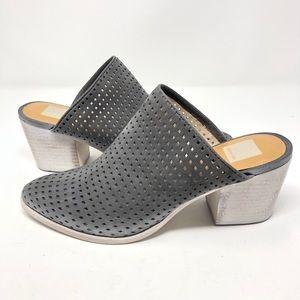 Dolce Vita | Grey Cut Out Heel Mule Suede